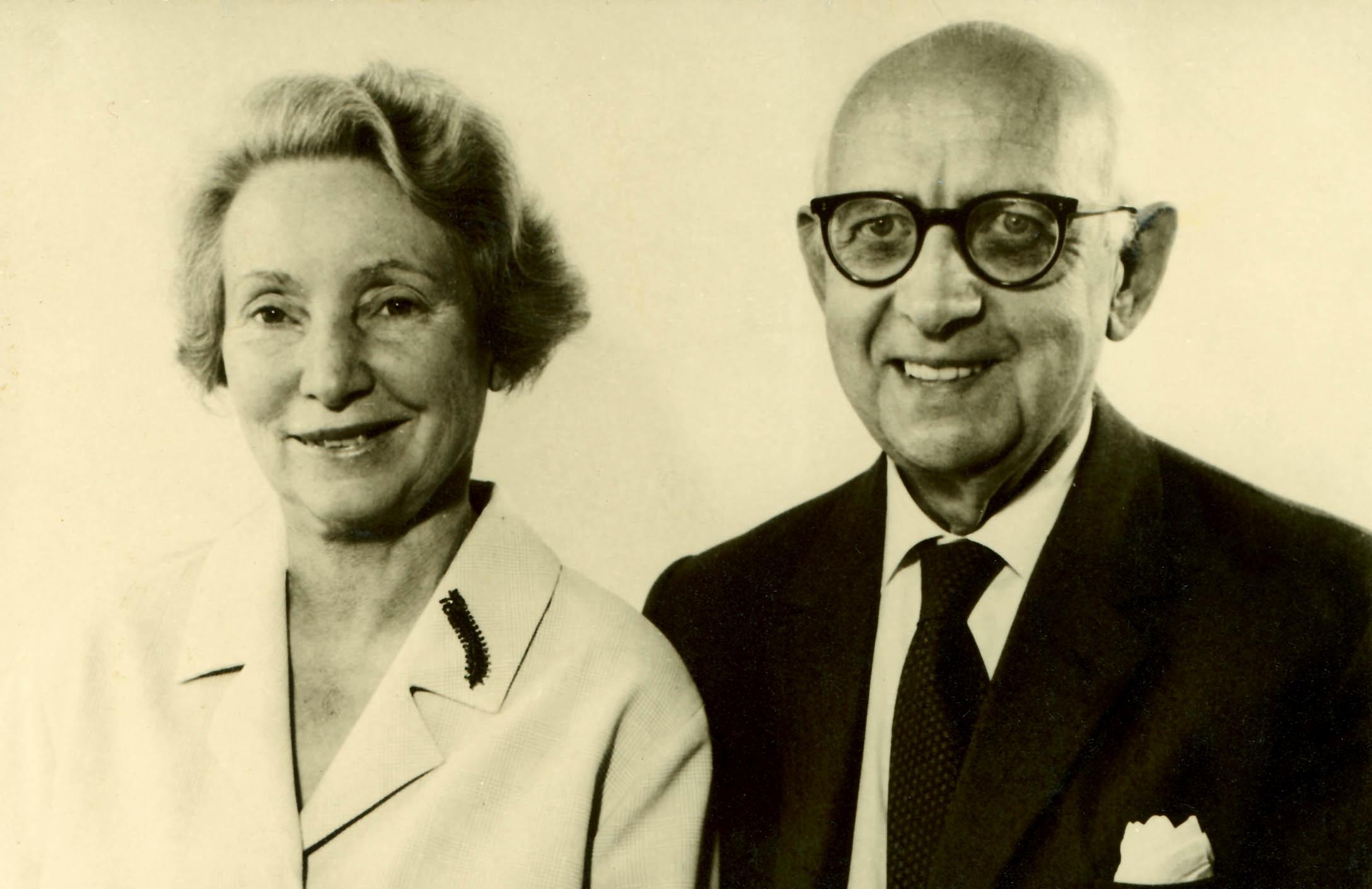 Le Docteur Emil Vodder (à droite)